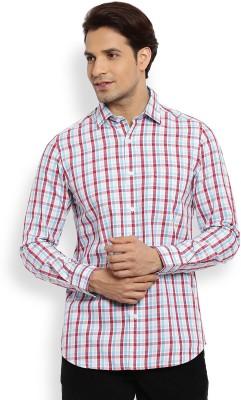 Color Plus Men's Checkered Casual Blue Shirt