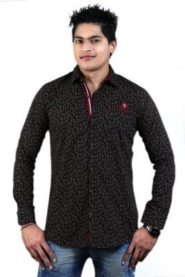 Vigroll shirts Men's Printed Casual Black Shirt
