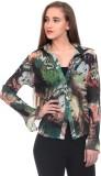 Wild Hawk Women's Printed Casual Green S...