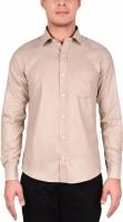 Barrister Formal Shirts (Men's) - BARRISTER Men's Solid Formal Beige Shirt