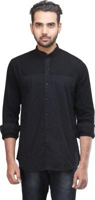 Mehta Men's Printed Casual Black Shirt