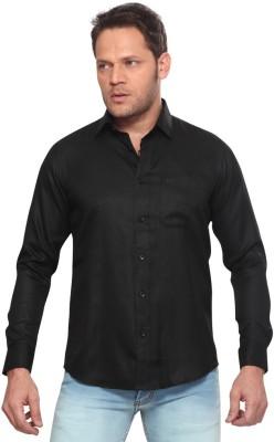 Club Fox Men,s Solid Casual Black Shirt