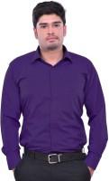 Sttoffa Formal Shirts (Men's) - Sttoffa Men's Solid Formal Blue Shirt