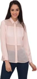 Desi Belle Girls Solid Casual Pink Shirt