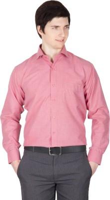 Robin Rider Men's Solid Casual Pink Shirt
