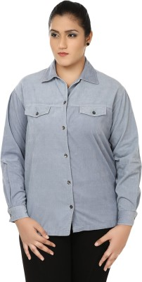 Eves Pret A Porter Women's Solid Casual Grey Shirt
