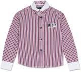 London Fog Boys Striped Casual Pink Shir...