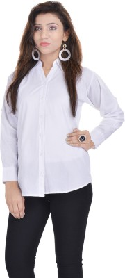 Soundarya Women's Solid Formal White Shirt