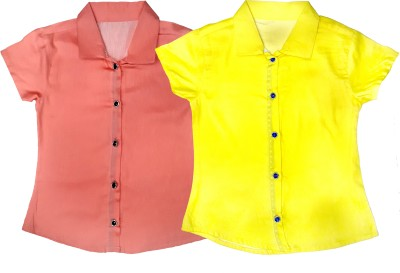 Desire Girl,s Solid Casual Pink, Yellow Shirt