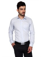 Frank Jefferson Formal Shirts (Men's) - Frank Jefferson Men's Checkered Formal White Shirt