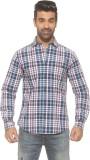 Pepe Men's Checkered Casual Blue Shirt