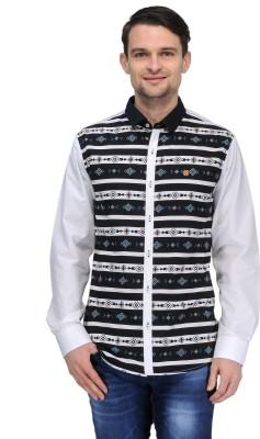 Canary London Men's Printed Casual Black Shirt