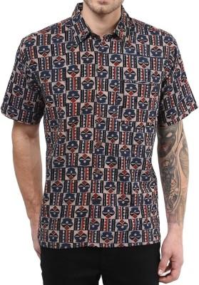 Vivid India Men's Geometric Print Casual Multicolor Shirt