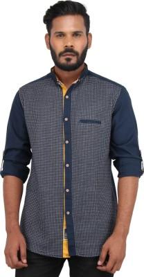 Piazza Italya Men's Checkered Casual Blue, White Shirt