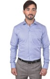Success Men's Printed Formal Blue Shirt