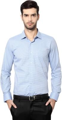 Van Heusen Men's Geometric Print Casual Blue Shirt