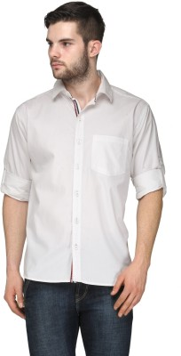 TSX Men's Solid Casual, Formal, Party, Lounge Wear White Shirt