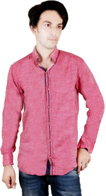 Zrestha Men's Solid Casual Maroon Shirt