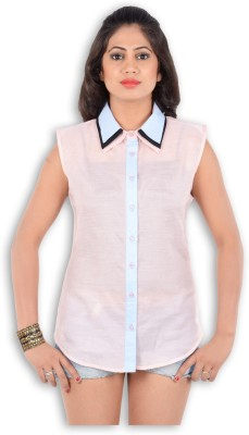 S9 Women's Solid Casual Pink, Light Blue, Black Shirt