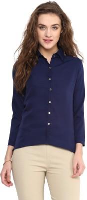 Uptownie Lite Women's Solid Casual Dark Blue Shirt