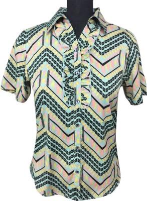 AC Women,s Geometric Print Casual Multicolor Shirt