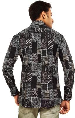 Trinath Men's Printed Casual Grey Shirt