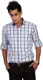 TGM Men's Checkered Casual White Shirt