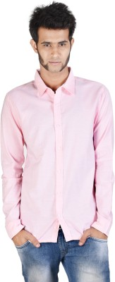 Corpus Men's Solid Casual Pink Shirt