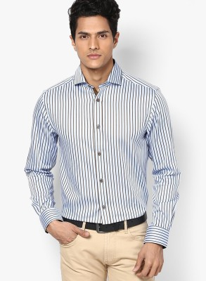 Jack & Jones Men's Striped Casual Light Blue Shirt