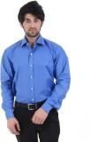 Burdy Men's Solid Formal Dark Blue Shirt