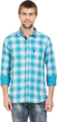 SupeRugby Men's Checkered Casual Green Shirt