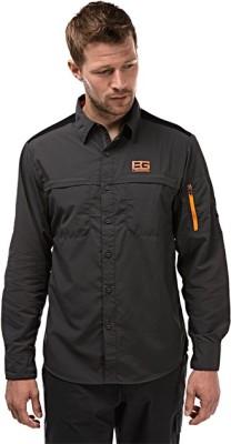 Craghoppers Men's Solid Sports Grey, Black Shirt