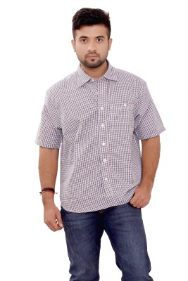 SML Men's Solid Casual Reversible Brown Shirt