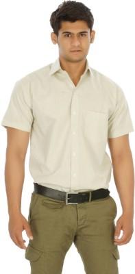 Venga Men's Solid Formal Grey Shirt