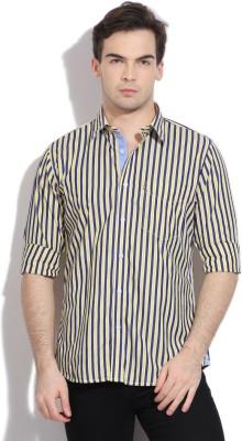 Van Heusen Sport Men's Striped Casual Yellow, White, Blue Shirt