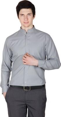 Robin Rider Men's Solid Casual Grey Shirt