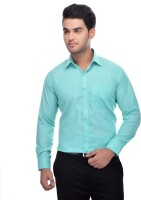 Ben Martin Formal Shirts (Men's) - Ben Martin Men's Solid Formal Light Green Shirt