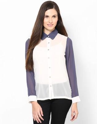 Kaxiaa Women's Solid Casual Beige Shirt