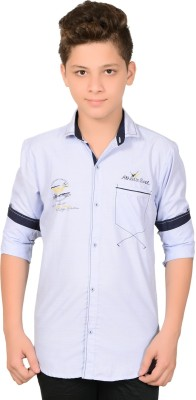 Anry Boy,s Solid Casual Blue Shirt