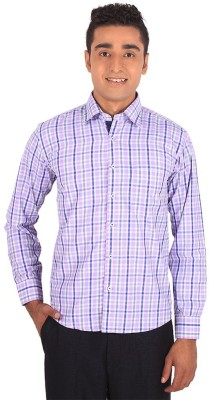 Henry Spark Men's Checkered Casual Pink Shirt