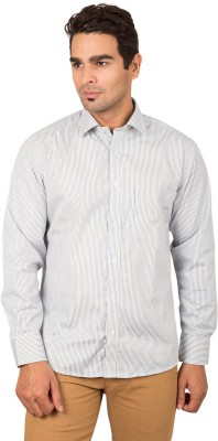 BlackBird Men's Striped Casual Multicolor Shirt