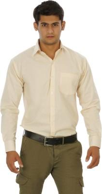 Venga Men's Solid Formal Beige Shirt