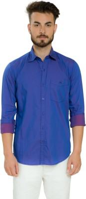 Club X Men's Solid Casual Purple Shirt