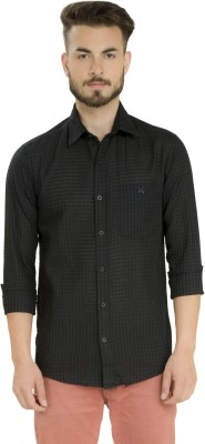 Club X Men's Checkered Formal Black Shirt