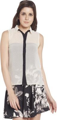 Globus Women's Printed Casual White Shirt
