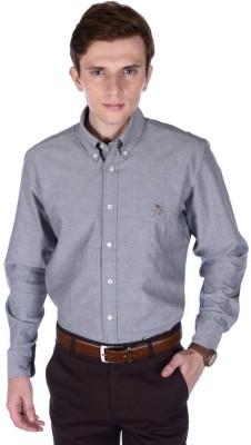 FRANK JEFFERSON Men's Solid Casual Black Shirt