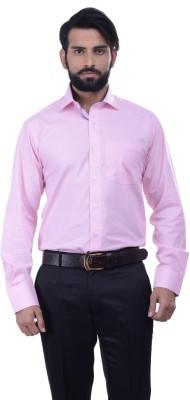 Alpha Centauri Men's Solid Casual Pink Shirt