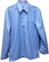 Rajindras Formal Shirts (Men's) - Rajindras Men's Solid Formal Blue Shirt