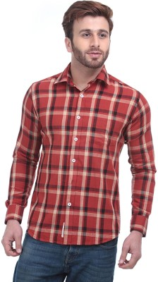 Fash-A-Holic Men,s Checkered Casual Red Shirt
