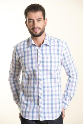 Kart & Kriss Men's Checkered Casual Purple Shirt